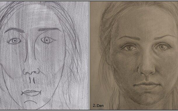 Tužka mozkovou hemisférou II. – Obrázek osobního úspěchu – reálná kresba a autoportrét