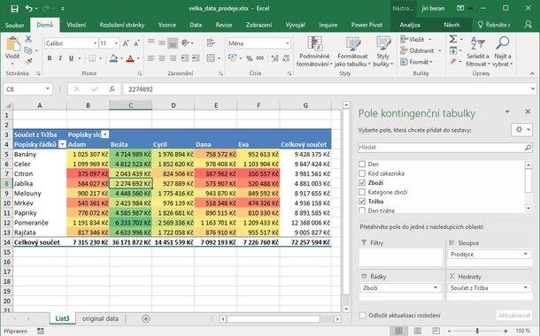 Kopie - Kurz Excel prakticky (jeden den), Praha
