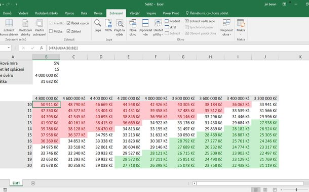 Středně pokročilý kurz Excelu (dva dny)