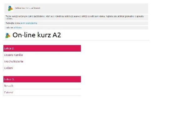 On-line kurz němčiny A2 pro začátečníky a mírně pokročilé