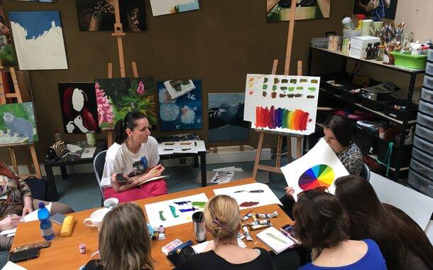 Teorie a míchání olejových barev!!! (22.4.2017) SOBOTNÍ SPECIÁL Mimořádně pouze 1 sobotní workshop!!!