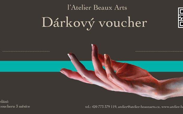 VÁNOČNÍ dárek - kurz malování- SPECIÁLNÍ nabídka (omezený počet  voucherů) 1 MĚSÍČNÍ  večerní